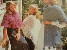 Knitting and Crochet Pattern Ladies Girls Shawls and Stole Mohair Vintage