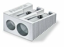 STAEDTLER ALUMINIUM Pencil Sharpeners - Single or Double Hole - Pack of 1,2 or 3