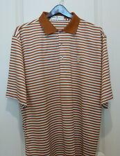 Fairway & Greene Golf Shirt ...XL..RustWhite Stripes..CC of Buffalo
