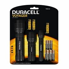 Duracell Voyager Bright LED Flashlights Travel Car Camp Torch Set with Batteries