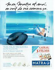 Publicité Advertising 220  1994  Matra communication  téléphone Nautila sans fil