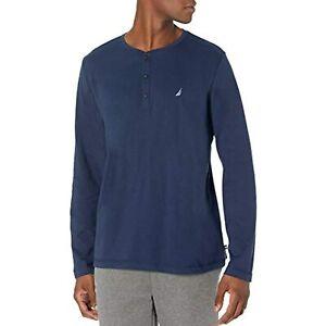 Nautica Men's Long Sleeve Henley Pajama Top PJ Shirt, Size L, $38, NwT