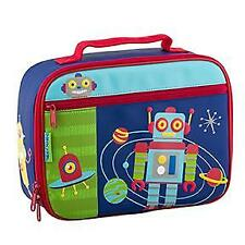 NEW Stephen Joseph Childrens Robot Lunch Box Boys Kids Insulated Bag School