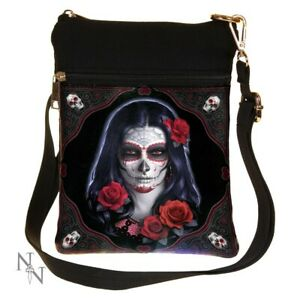 Nemesis Now Sugar Skull Day Of The Dead Bag Handbag Tattoo Goth Biker New Gift
