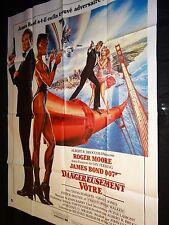 DANGEREUSEMENT VOTRE ! roger moore  james bond 007  affiche cinema