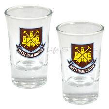 West Ham United F.C. 2pk Shot Glass Set Official Merchandise