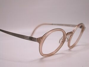 BYWP Stainless Modern Light Weight Chrome Round Frames Eyeglasses Made in German