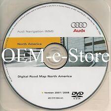 2007 2008 2009 Audi A8 S8 A8L Q7 A5 S5 Quattro MMI Navigation DVD Map U.S CANADA