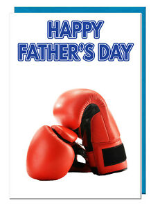 Boxing Gloves Themed Father's Day Card - For Dad Grandad Stepdad Daddy Husband