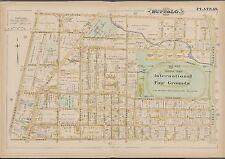 1891 GM HOPKINS, OLYMPIC BASEBALL PARK OF BUFFALO BISONS NEW YORK COPY ATLAS MAP