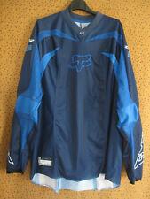 Maillot Motocross Rider Moto Racing cross FOX Vintage Bleu Jersey - L