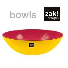 Zak design Mono Schüssel Weiß im Set mit Salatbesteck BBQ Camping Outdoor