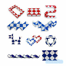 New Magic Snake Shape Toy Game 3D Cube  Twist Puzzle Educational Toy Kids Gift