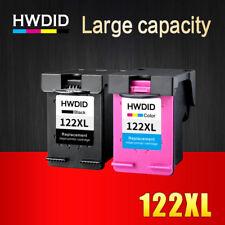 2 Ink Cartridges Printer HP 122 XL Black Tri Color HP Deskjet 1000 1050 2000 NEW