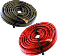 10FT 4 Gauge Primary Speaker Wire Amp Power Ground Car Audio 5' Red + 5' Black