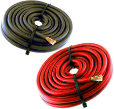 20FT 8 Gauge Primary Speaker Wire Amp Power Ground Car Audio 10' Red + 10' Black