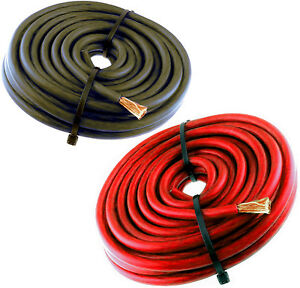 10 GAUGE AWG WIRE 50 FT 25 BLACK 25 RED CABLE POWER GROUND STRANDED PRIMARY