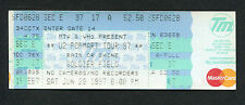 Original U2 1997 PopMart Tour 97 Unused Full Concert Ticket Chicago Bono