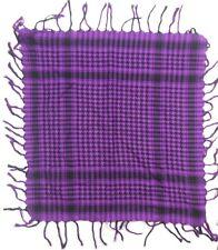 "No Brand Label Ladies Polyester Scarf 21"" X 21"" Purple & Black Stripes"