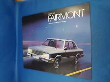 1980 FORD FAIRMONT CAR SALES BROCHURE GHIA FUTURA WAGONS OPTIONS COLOR CHOICES