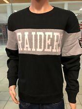 LAS VEGAS RAIDERS CREW NECK Sweatshirt Men's    47 BRAND  BRAND NEW  BLACK