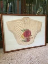 PERSONALIZED, HARRY CHAPIN CONCERT SHIRT, MAY 13, 1978, ENCLOSED IN GLASS FRAME
