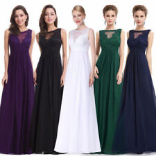 Ever-Pretty Crew Neck Maxi Dresses for Women