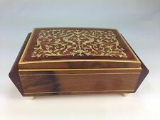 Lovely Reuge  Italian Handmade Inlaid Natural Wood Musical Jewelry Box