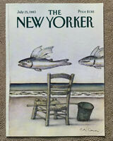 COVER ONLY ~ The New Yorker Magazine, July 25, 1983 ~ Andre Francois