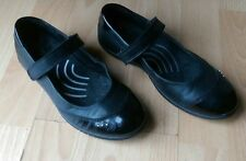 ECCO GIRLS KIDS BLACK LEATHER MARY JANE ANKLE STRAP SCHOOL SHOES SIZE UK 2 EU 34