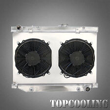 Aluminum Radiator With Fan Shroud Fit Toyota Land Cruiser FZJ105 HZJ105 4.5L AT