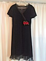 Black Stretch Velvet Girls Dress Size 10 Children's Place, Recital, Dressy
