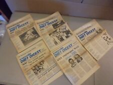 LOT OF 4 1988 KNOXVILLE DIRT DIGEST NEWSPAPERS,SPRINT RACING NEWS,RESULTS,FACTS