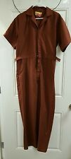 70s McDonalds Work Uniform Coveralls Jumpsuit by Stan Herman Collection Sz 42