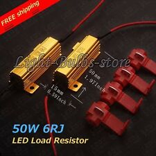2 pcs Load Resistor 50W 6ohm Fix LED Bulb Hyper Flash Turn Signal Blinker