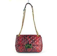Michael Kors Red Python Sloan Shoulder Bag