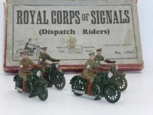 Vintage Britains 1791 Royal Corps of Signals 4 Dispatch Riders