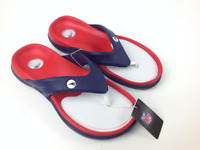"NFL New England UNISEX Flip Flops by Hawaiian Jellys Sizes ""Slip...aaahs"""
