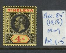 ST HELENA 1913 4D BLACK-RED/YELLOW MINT SG85