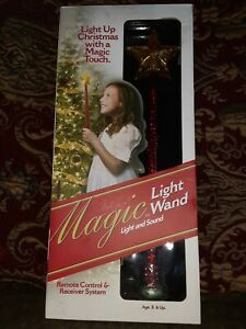 Magic Light Wand Christmas Remote Control Red New Light Christmas Grandmas Magic