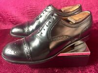 Mens Black Gucci Leather Cap toe Oxford Shoes Sz 9 G / 10 D US Made In ITALY
