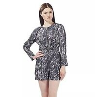 Debenhams Todd Lynn/Edition Grey Snakeskin 'Cynthia' Playsuit - 10 - BNWT £69
