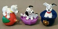 RARE---LOT of 3--Vintage TODDLER HEAVY Walt Disney's 101 Dalmation Figurines