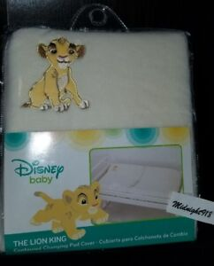 NEW DISNEY BABY THE LION KING SIMBA CONTOURED CHANGING PAD COVER.