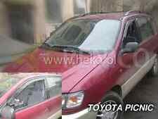 TOYOTA PICNIC 5-portes 1996-2001 Deflecteurs de vent 2-pièces HEKO Bulles