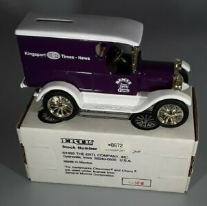 Ertl Kingsport Times-News Rescue Fund 1923 Chevrolet Panel Bank 1/25 Scale