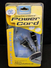 Hip Gear 2-Prong AC Power Cord Cable For Sony PLAYSTATION PS 2 PS 3 Xbox Adapter