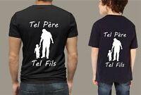 t-shirt personnalisé tel père tel fils fête cadeau anniversaire humour T0151