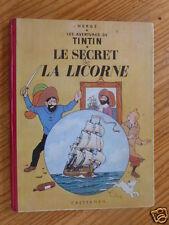 """TINTIN """"LE SECRET DE LA LICORNE"""", 1954, B9,  BON ETAT ( VOIR DESCRIPTIF)"""