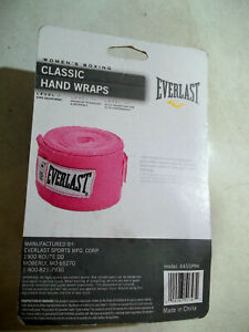 """Everlast Womens Boxing Classic Hand Wrap 108"""" Pink Level 1"""